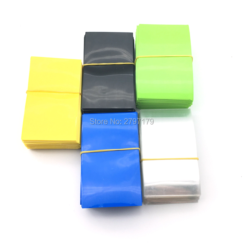 50pcs 75*43mm Heat Shrink Film Fit 26650 Battery Sleeve PVC Tube Wrap