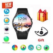 KingWear KW88 Android 5.1 Amoled Screen 3G Smartwatch Phone MTK6580 Quad Core 512MB RAM 4GB ROM GPS Gravity Sensor PK x5 k18 d5