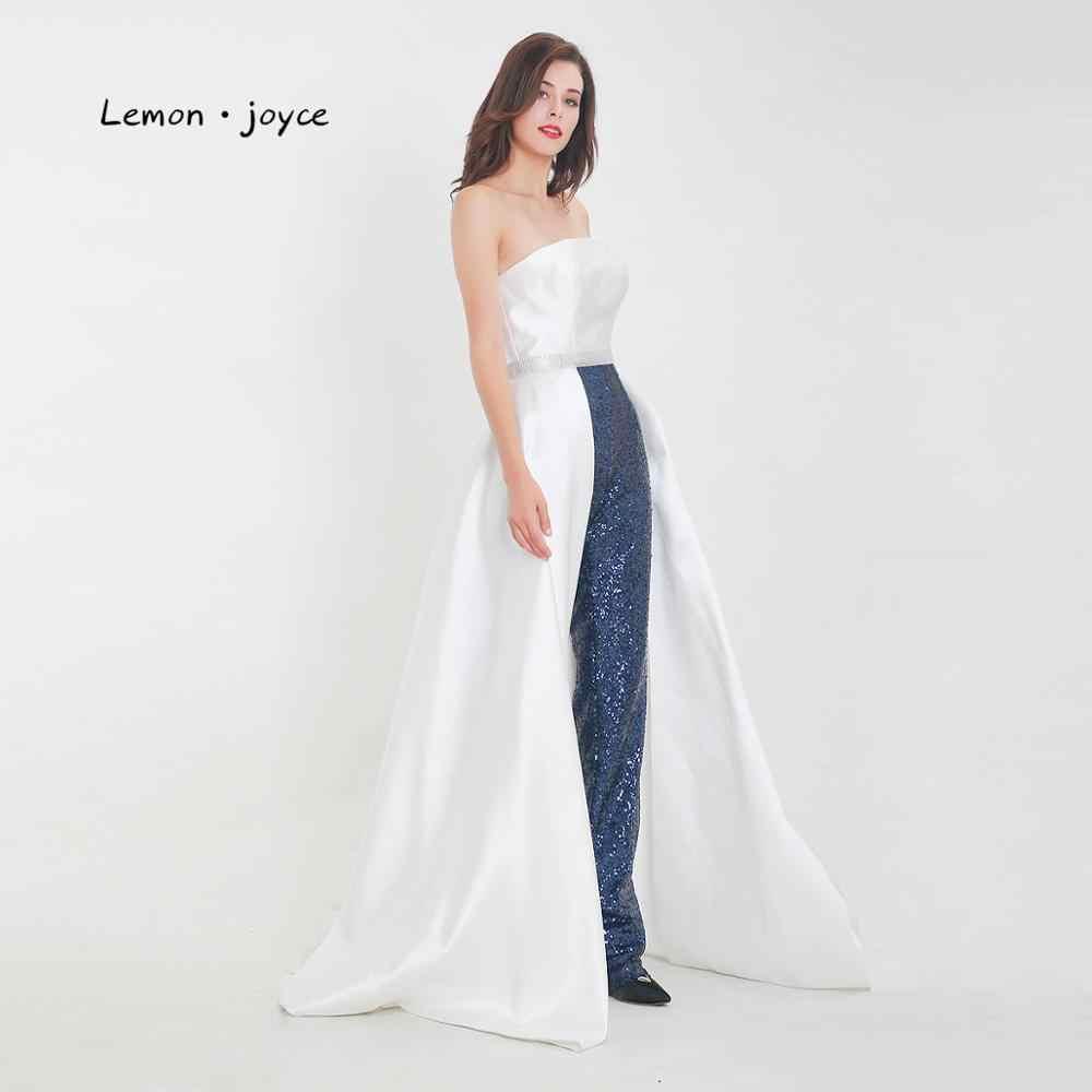 Lemon joyce брюки, вечернее платье 2020, новый стиль, без бретелек, вечерние платья с пайетками, большие размеры, monos mujer elegante