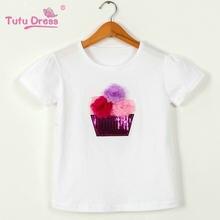 756a58768 Lentejuelas niños Niñas manga corta Camiseta niños Tops camiseta chica  verano primavera ropa superior(China