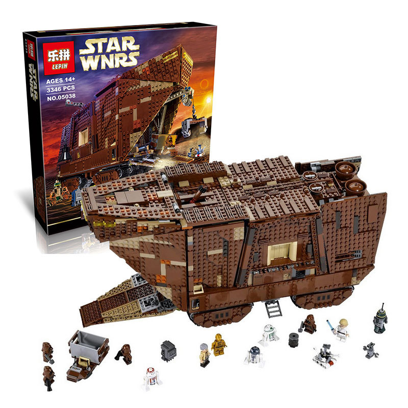 LEPIN 05038 Star Wars 3346Pcs Force Awakens Sandcrawler Minifigures Building Blocks Brick Toys Compatible with Legoe