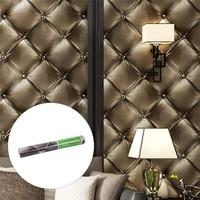 Luksusowe Faux Leather 3D Tapety Na Ścianie salonu Wall Paper Naklejki Rolki Tapet Tle Dekoracji 53x1000 cm