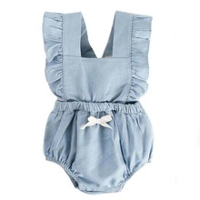 Ins Cowboy Baby girl clothes Spring And