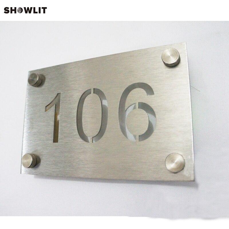 Silver Metal Wall Mounted Laser Cut Door Plaques scallop laser cut dress