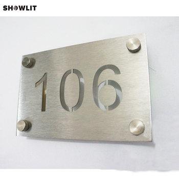 Silver Metal Wall Mounted Laser Cut Door Plaques