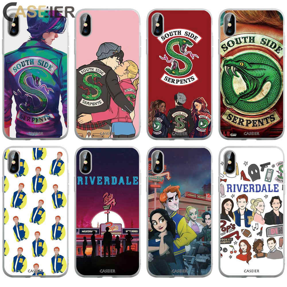CASEIER Riverdale Phone Case For iphone 6 6S 7 8 Plus X XS MAX XR Bags For iphone 10 XR 5 5S SE 6S 7 8 Plus Cover Funda Capa