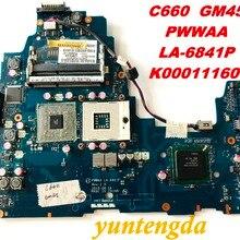 Original for TOSHIBA C660 laptop motherboard C660 GM45 PWWAA