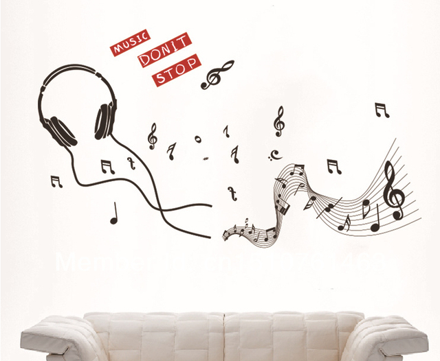 Free Delivery The New Wallpaper Headset Music Symbols