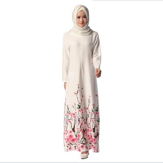 Оптовая Турецкая Исламская Абая Турции Jilbabs и Abayas печатных Мусульманского W652 Элегантность Платья Vestidos бесплатная доставка