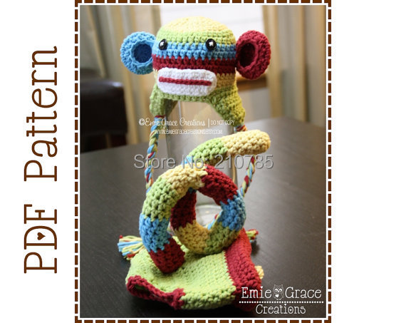 Free Crochet Pattern For Sock Monkey Mittens : Pin Wholesale Baby Crochet Sock Monkey Hat Beanie Boys ...