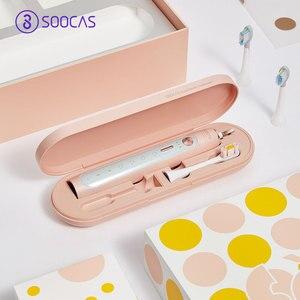 Image 4 - Soocas X3/X5 sonic חשמלי מברשת שיניים Soocas X3 משודרג למבוגרים עמיד למים Ultra sonic אוטומטי מברשת שיניים USB נטענת