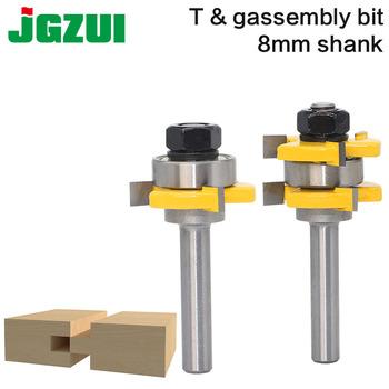 2 pc 8mm Shank wysokiej jakości język i rowek wspólne zgromadzenie zestaw bitów rozwiertaków 3 4 #8222 zdjęcie cięcie drewna narzędzia tanie i dobre opinie JGZUI Frezy do rowków teowych Stop wolframu i kobaltu