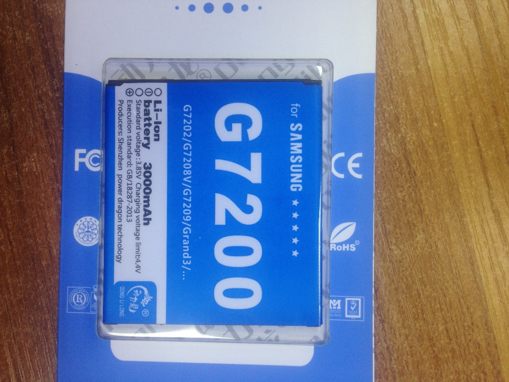 High capacity rechargeable Mobile Phone battery For Samsung Galaxy Grand Max G7200 G7202 G7208V G7209 Grand 3 etc Mobile Phones