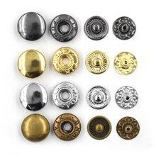 500 juegos 15mm Metal snaps botones sujetadores remaches T8 T5 T3 snaps botones de chaqueta ropa y accesorios reparación, costura snaps