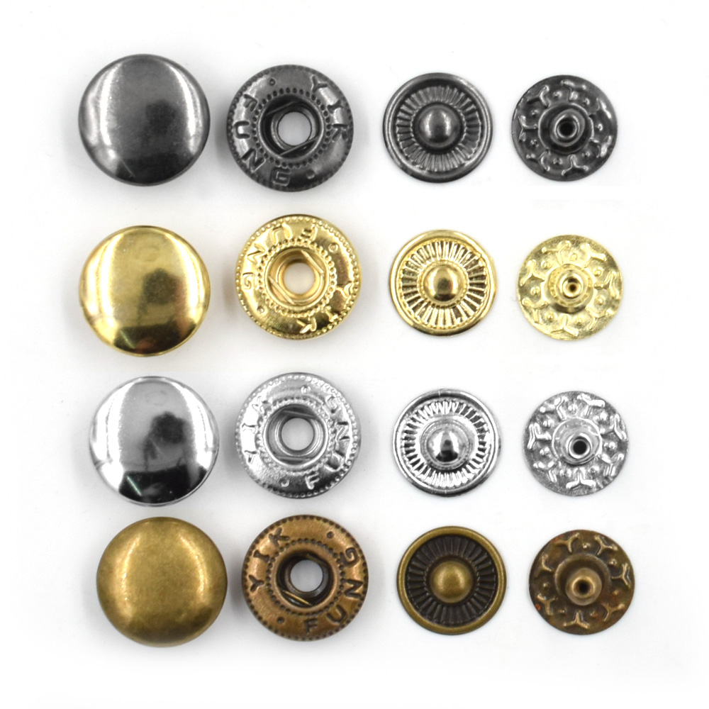 500 sets /lot15mm Metal snap. fastener buttons, Rivet, T8 T5 T3  snaps jacket buttons Clothing
