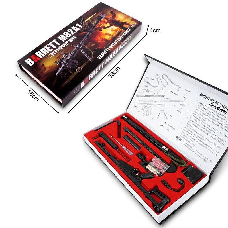 1:3 barrett m82a1 metal modelo arma lembrança brinquedos arma de metal não pode atirar barrett m82a1
