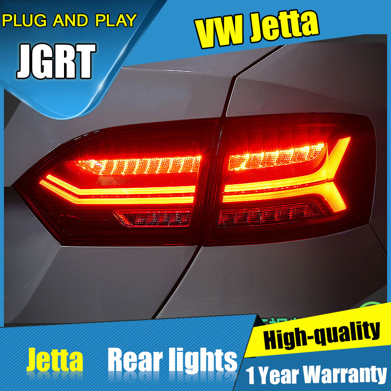 4PCS Car Styling For VW Jetta Taillights 2012 2014 For Jetta LED Tail Lamp Turn Signal