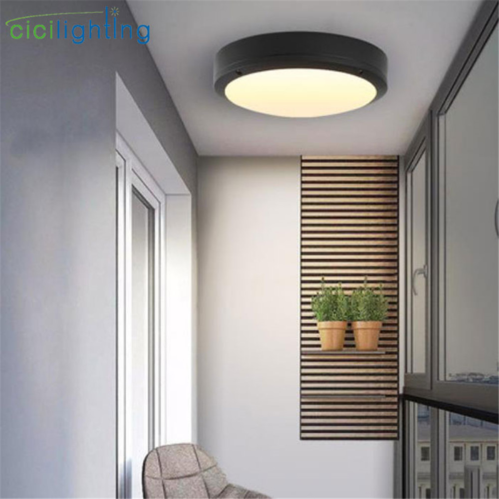 Lights Ceiling Us 19 99 Modern Outdoor Ceiling Lights 6w 20w 24w Bathroom Ceiling Lamp Decorative Lighting Porch Garden Porch Lights Led Wall Sconces In Outdoor