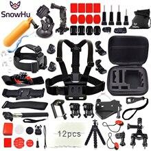 цена на For Gopro Accessories Set Monopod Harness Head Mount Strap Monopod for Go pro Hero 4 3+ 2 1 xiaomi yi action camera sjcam GS12