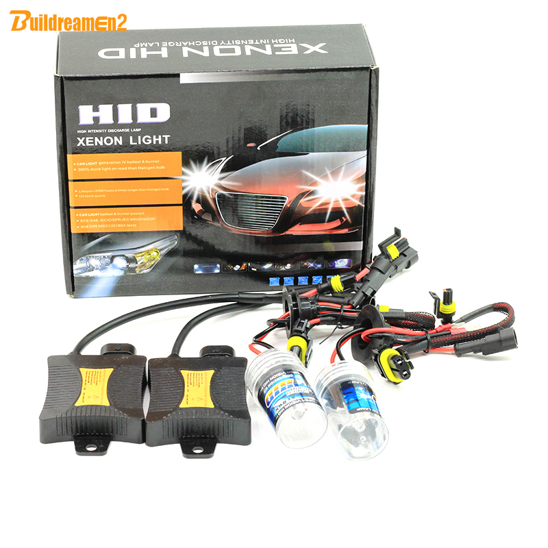 Buildreamen2 55W 6000K Xenon Conversion HID KIT Ballast Bulb Car Fog Light Headlight 880 881 9005 9006 H1 H3 H7 H8 H9 H11