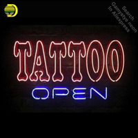 Business Custom NEON SIGN board For Tattoo Open Real GlassTube Handcrafted Restaurant Light Signs lamp Arts personalized neon