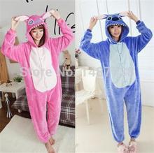 Kigurumi Unisex Adult Children Blue Pink Stitch Pajamas Animal Onesie One Piece Pyjamas Cosplay Costume Sleepsuit