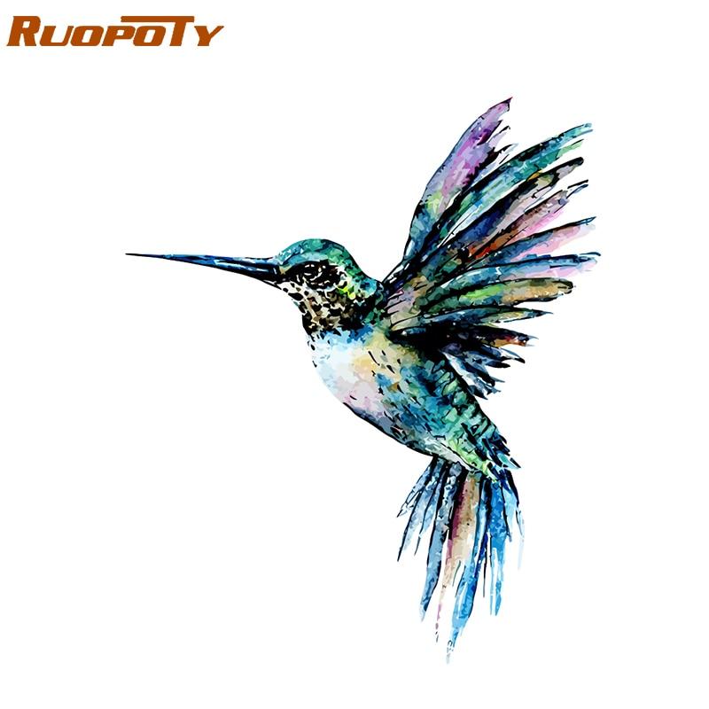 Ruopoty рамка красочная птица DIY Краска ing по номерам Акриловая Краска на холсте краска ing животные Раскраска по номерам для домашний декор