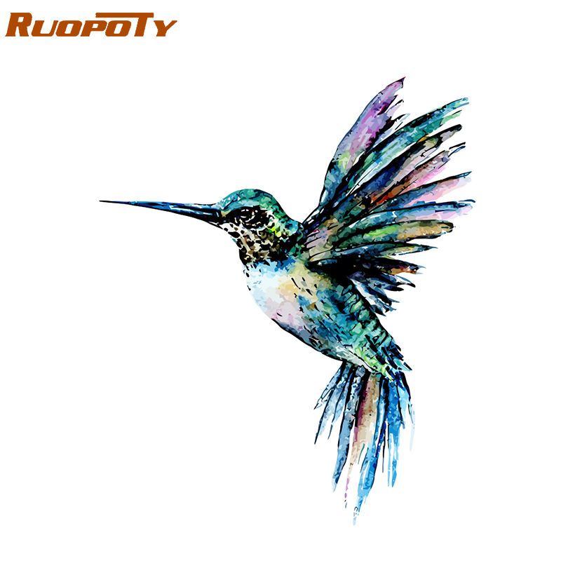 RUOPOTY Frame Colorful Bird DIY Painting By Numbers Acrylic Paint On Canvas Painting Animals Coloring By Numbers For Home Decors