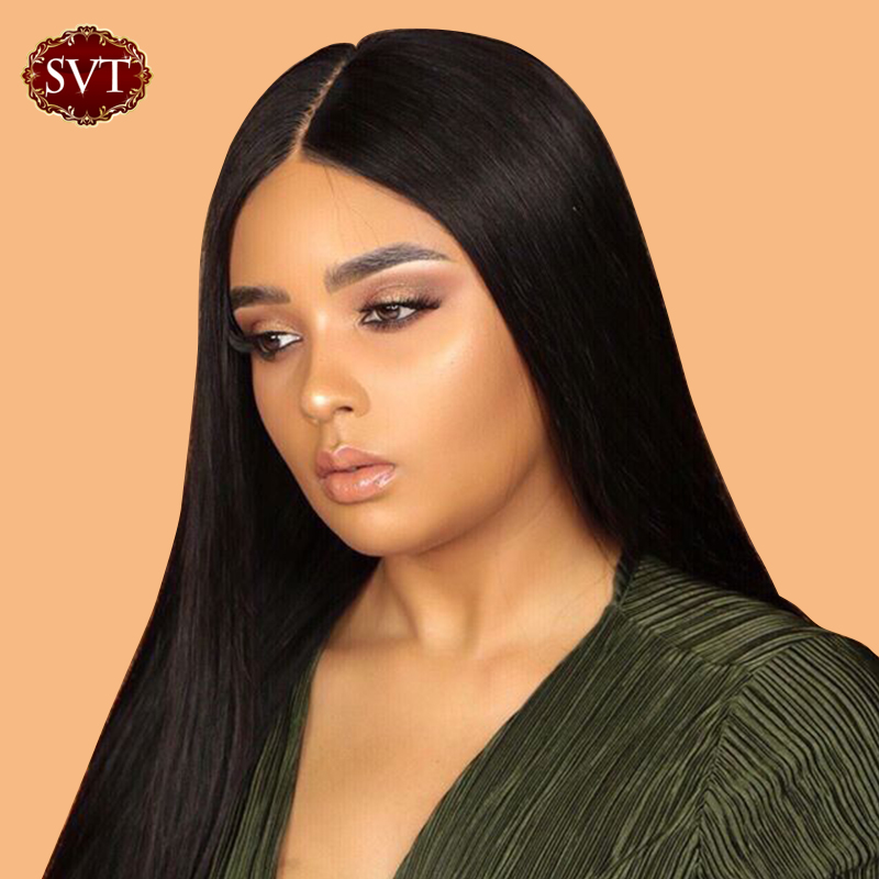 SVT Lace Front Human Hair Wigs 4x4 Closure Lace Wigs Remy Brazilian Hair Wigs 150 Straight