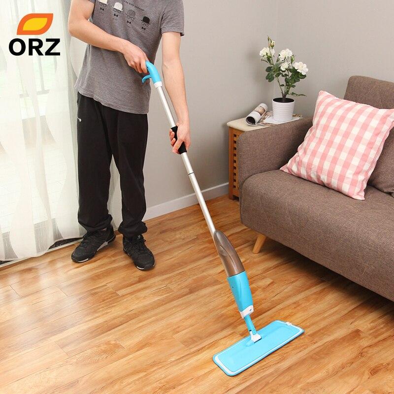 ORZ Steam Spray Mop Magic Microfiber 360 degree Multifunction rotate Mop flooring Dedicated Static Floor Cleaning Tools