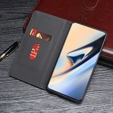 For OnePlus 7 Case Vintage PU Leather Wallet Magnetic Flip Stand Cover For One Plus 7 1+ 7 Case with Card Slots Matel Buckle