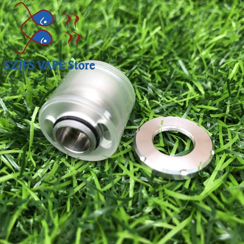 PEI/PC Replacement Bell Cap For Dvarw MTL RTA Vape Kit Mod Diy Edc Atomizer Drip Tip Tools Kit Vs Dvarw 16  24 DL Rdta Vape Mods
