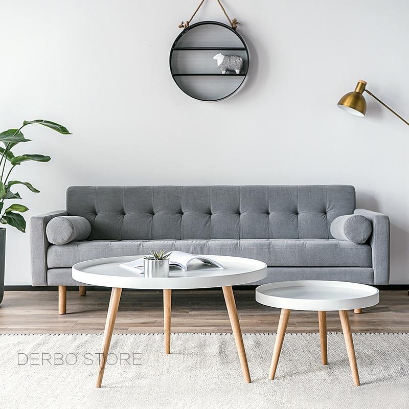 Us 189 0 Modern Design Fashion Solid Wood Small High Low Side Table Living Room Sofa Corner Tea Coffee Loft Tray In