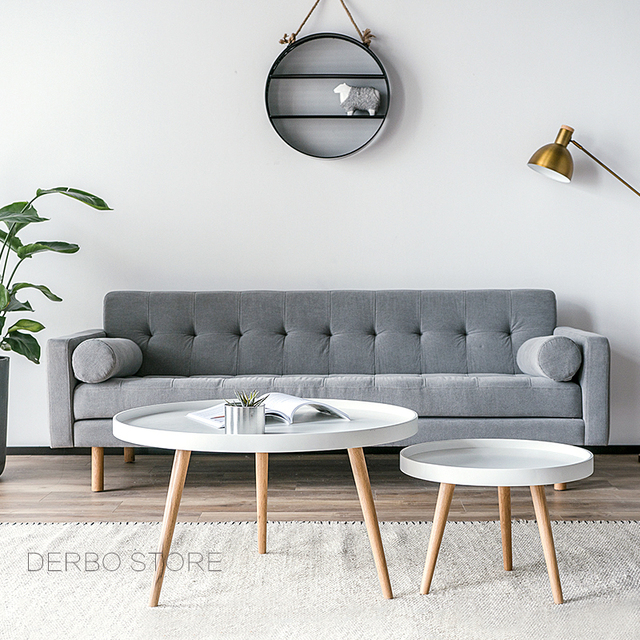 Corner Living Room Table Modern Country Design Fashion Solid Wood Small Big High Low Side Sofa Tea Coffee Loft Tray