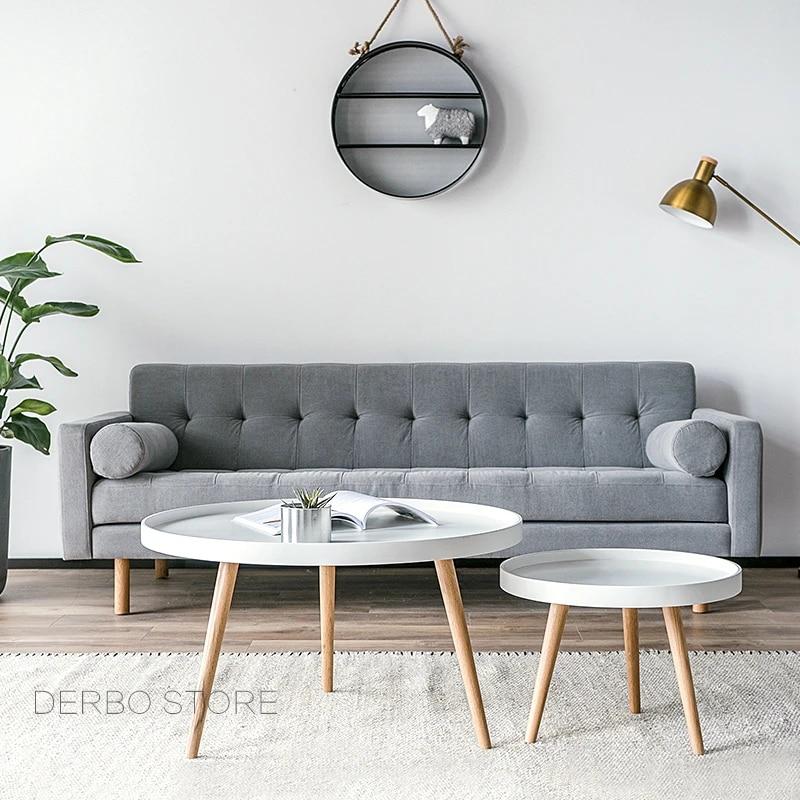Modern Design Fashion Solid Wood Small Big High Low Side Table Living Room Sofa Corner Tea Coffee Table Loft Tray Side Table Coffee Tables Aliexpress