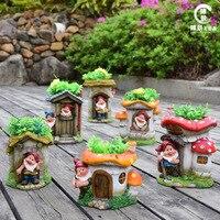 Garden courtyard balcony ornament balcony dwarf elf Potted flowers cylinder Garden decoration home decor miniature garden