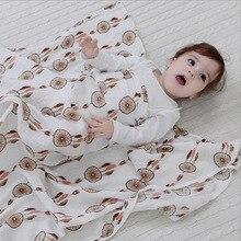 Kids Muslin Swaddling Blankets Multifunctional Baby Blanket Receiving Batch Towel Cotton Soft Newborn Burp Cloths