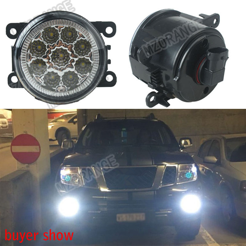6000K 12V car-styling For NISSAN Navara D40 Note E11 Pathfinder R51 Pixo UA0 DRL Fog Lamps lighting LED Lights 9W /1 SET