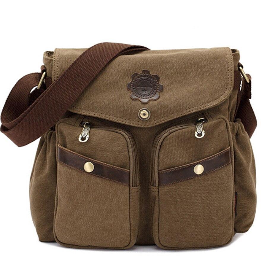 Handbags KAUKKO Canvas Men Casual Crossbody Shoulder Messenger Bags 2016 New