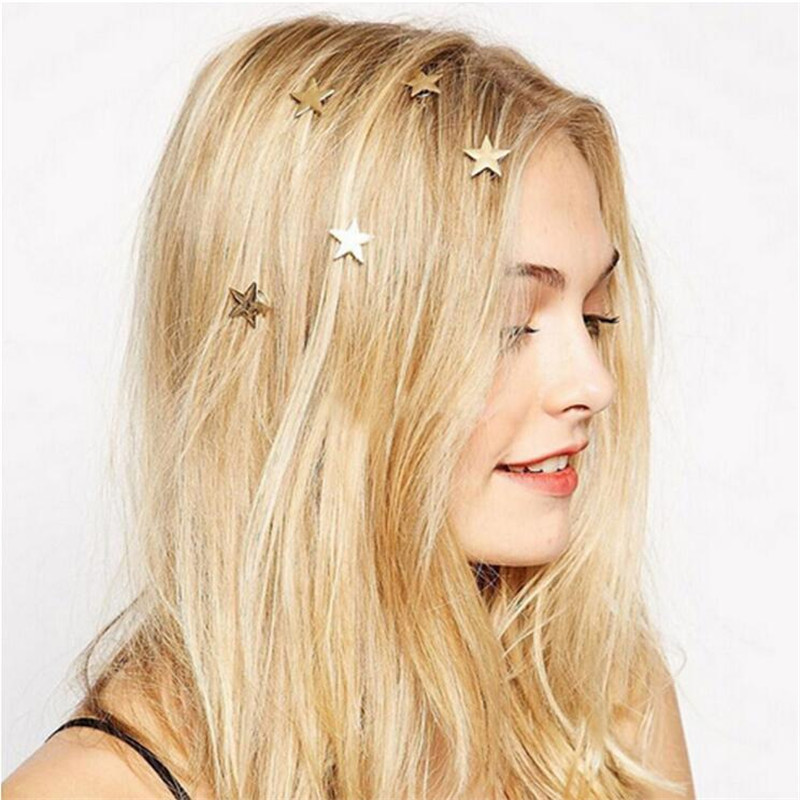 Accessories Hairpin Wedding-Barrette Cock Headwear Stars Sweet Gold-Color Pinch Forest-Style