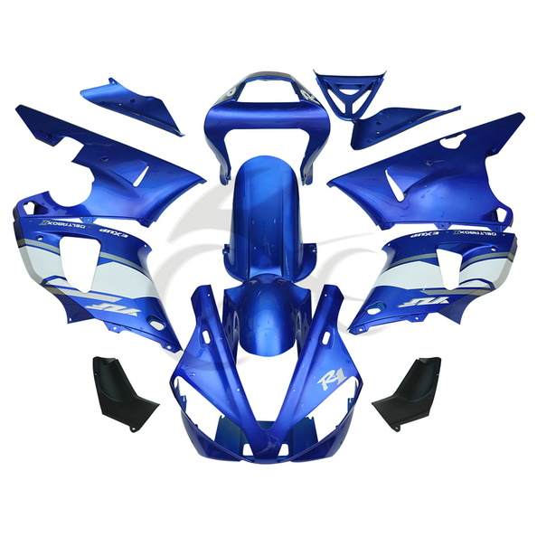 Motorcycle Blue ABS Plastic Full Fairing Bodywork Kit For Yamaha YZF R1 YZF-R1 1000 2000-2001 13A for yamaha yzf 1000 r1 2007 2008 yzf1000r inject abs plastic motorcycle fairing kit yzfr1 07 08 yzf1000r1 yzf 1000r cb02