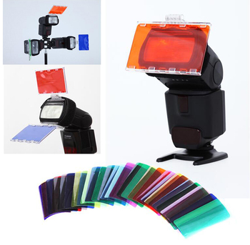 30 Color Photographic Flash Color Balance Gels Filter Card Lighting Diffuser for Canon Nikon Yongnuo Nissin Speedlite image