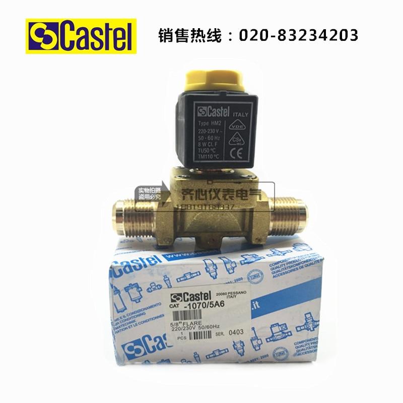 Castel solenoid valve 1070/5A6 5/8 (16mm) 1068-5 cold storage special solenoid valve pc400 5 pc400lc 5 pc300lc 5 pc300 5 excavator hydraulic pump solenoid valve 708 23 18272 for komatsu
