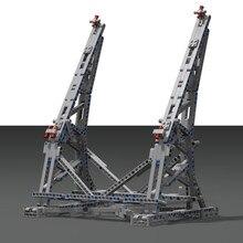 Le MOC pour lego star wars millénaire Falcon Vertical 75192 présentoir lepin 05132 papier avec jouets manuels pour enfant
