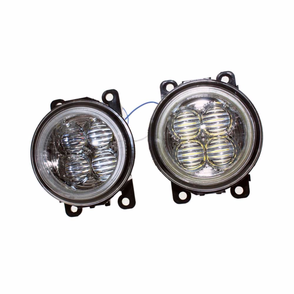 For VAUXHALL ASTRA Mk IV (G) Hatchback Car Styling Bumper Angel Eyes LED Fog Lamps DRL Daytime Running Fog Lights OCB Lens for opel astra h gtc 2005 15 h11 wiring harness sockets wire connector switch 2 fog lights drl front bumper 5d lens led lamp
