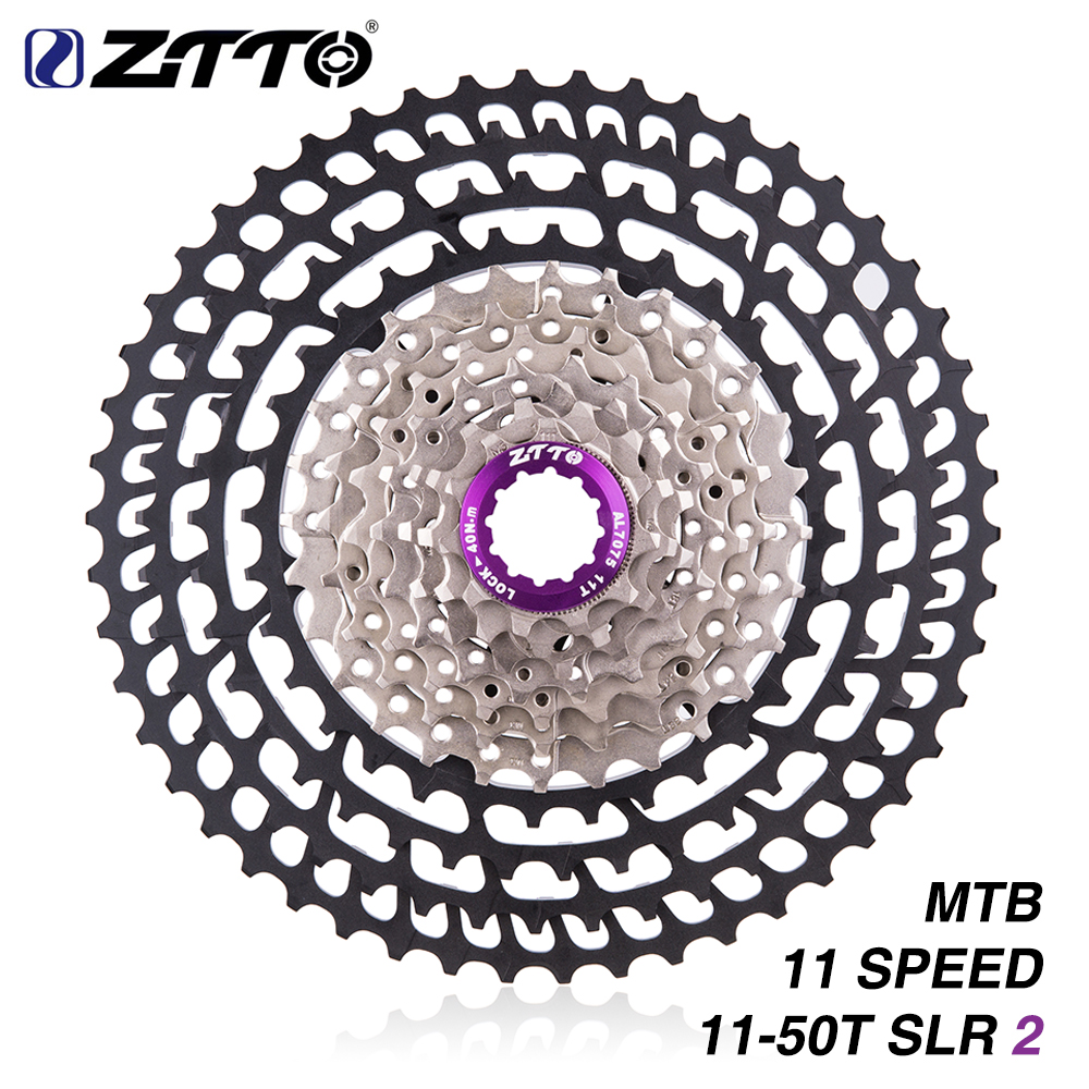 ZTTO 11s 11 50T SLR 2 New Uprade Cassette MTB 11Speed Wide Ratio UltraLight 360g CNC Freewheel Mountain Bike Bicycle Parts
