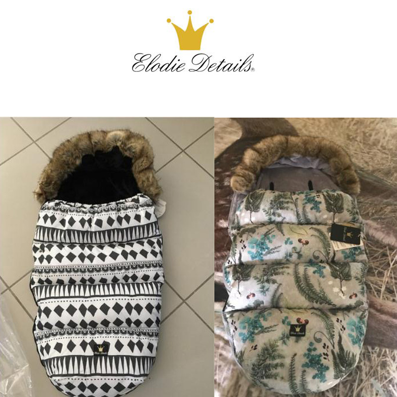ELODIE DETAILS Winter Baby stroller Sleeping Bag baby footmuff Anti Thermal Windproof warmer footmuff with fake fur collar рюкзак polar polar po001burvn32