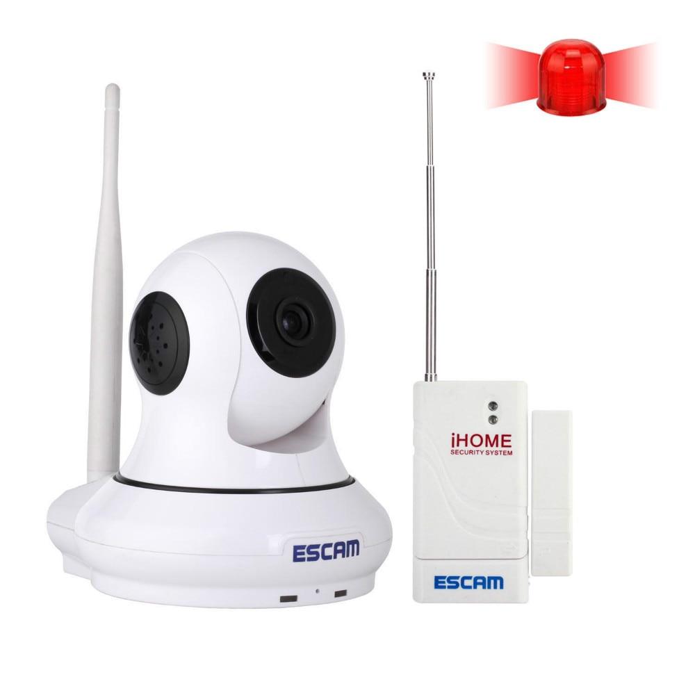 ESCAM 433mhz Wireless Alarm System Intercom P2P Night Vision 720P IP Camera