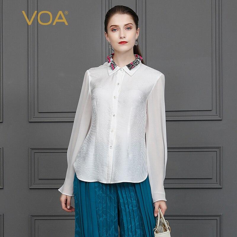Seda Mujer Oficina Kleding Camisa Blanco Modis Tops De Listonoszka Camisas Koszula B831 Blusas Blusa Roupa Otoño Femininas Voa Damas q1Stp