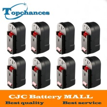 8PCS High Quality 2000mAh 18V NI CD Replacement Power Tool Battery for Black Decker HPB18 244760